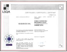 CERTIFICATO LSQA S.A.